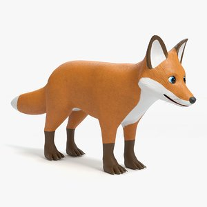 cartoon fox 3D
