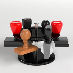 3D rubber stamps rack model