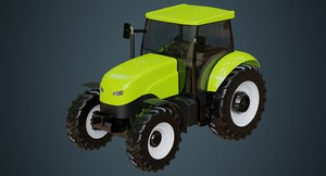 tractor industrial agriculture 3D model