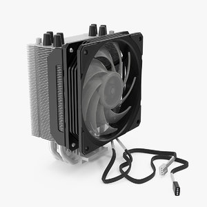 cpu tower cooler 3D model