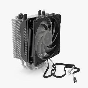 cpu tower cooler 3D model