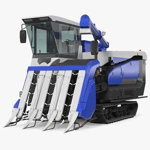 3D rice combine harvester model