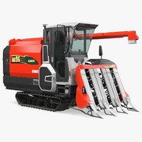 rice combine harvester kubota 3D