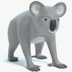 3D cartoon koala model