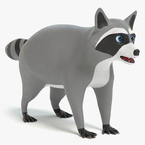 3D raccoon cartoon