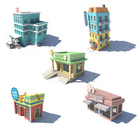 3D model fivestore02 store