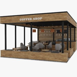 coffee shop 3D