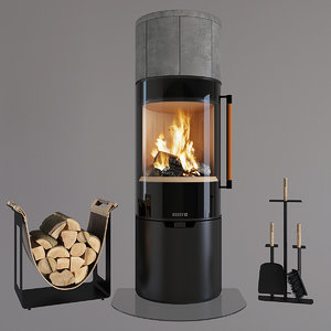 3D fireplace keddy model