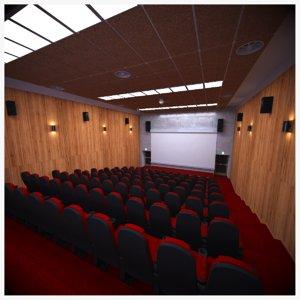 small auditorium scene 3D model