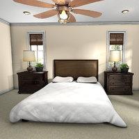 3D master bedroom model
