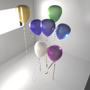 3D random color balloon