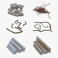 construction trash 2 t 3D