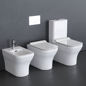 close forma toilet bidet 3D