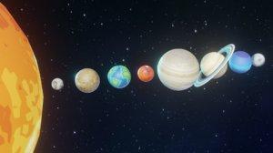 3D solar planet sun