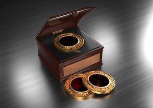 3D model commemorative coin
