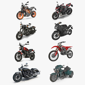 motorcycles 2 motor 3D model