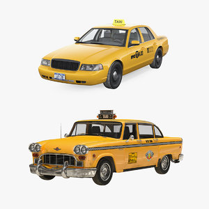 nyc checker cab 3D model