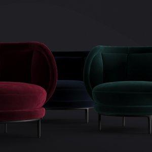 3D armchair vuelta sessel lounge chair model