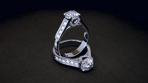 3D jewellery women diamond ring