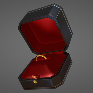 3D diamond ring box
