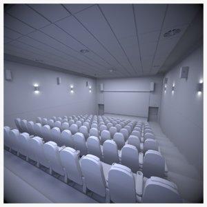 3D auditorium scene