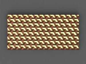 3D model chocolate bar