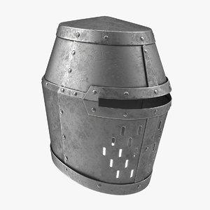 crusader helmet 3D model
