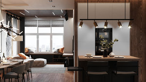 3D modern apartment interior design