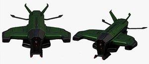 futuristic military 3D model