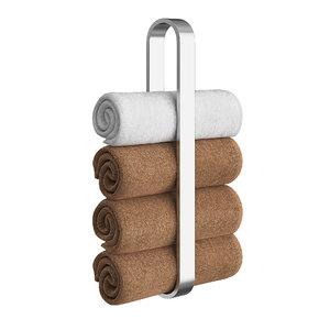 3D towel shelf