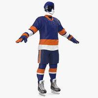 hockey equipment blue 3D model