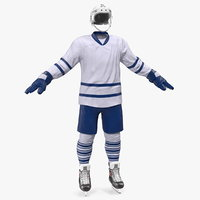 hockey equipment generic 3D model