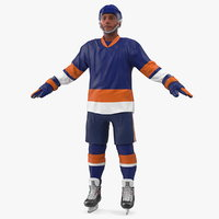 hockey player blue model