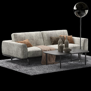 3D model sofa furniture seat