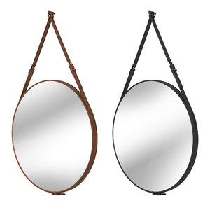 3D mirror brown black model