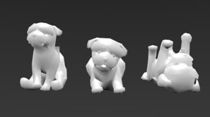 3 dogs cellphone 3D