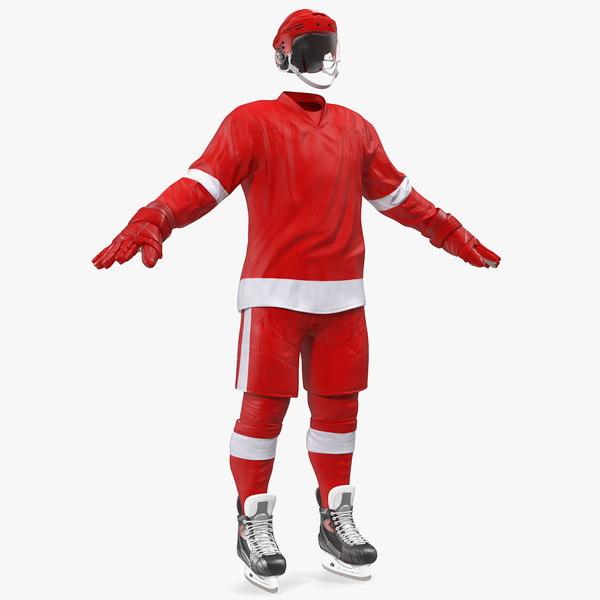 hockey equipment red model
