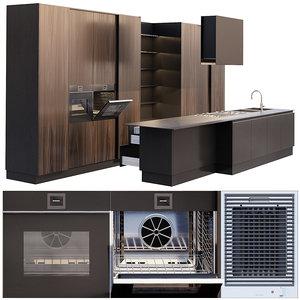 ernestomeda emetrica kitchen barazza 3D model