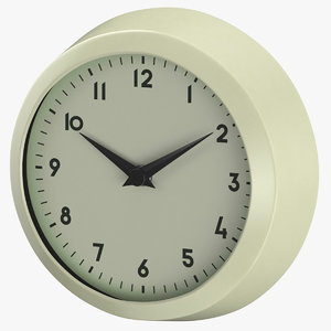 3D model retro wall clock