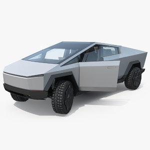 3D tesla cybertruck rigged pickup truck model