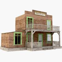 western west sheriff 3D model