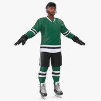 hockey player green 3D model