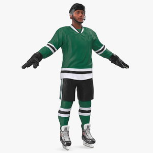 hockey player green 3D model