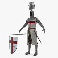 knight armor set 3D
