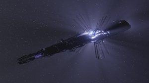 scifi alien ship 3D