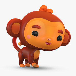 cute cartoon monkey 3D