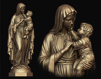Mary with Child Statue