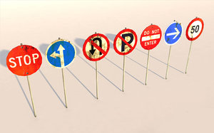 road traffic sign model