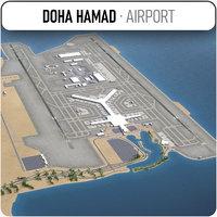 3D doha hamad international airport model