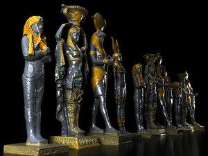 egipt monument pack 4 3D model